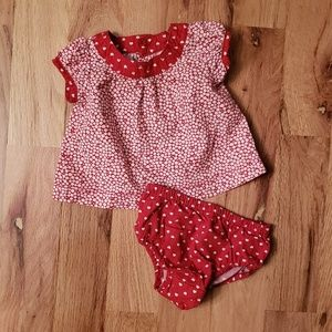 Old Navy Swing Dress Set - Red Hearts & Flowers